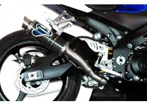 S058080CR - Exhaust Muffler Termignoni ROUND S. Steel Carbon SUZUKI GSX-R 1000