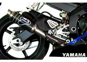 Y077080CR - Exhaust Muffler Termignoni ROUND S. Steel Carbon YAMAHA R6