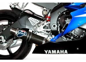 Y081080CR - Exhaust Muffler Termignoni ROUND S. Steel Carbon YAMAHA R6