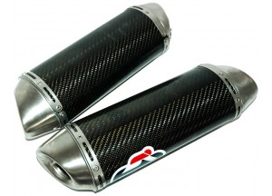 Y090080CO - Exhaust Muffler Termignoni OVAL S. Steel Carbon YAMAHA R1
