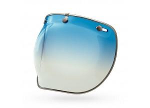 7018140 - Visor Bell Custom 500 3-Snap Bubble Deluxe Ice-Blue Gradient