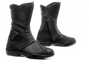 Leather Boots Forma Touring Outdry Waterproof Voyage Black