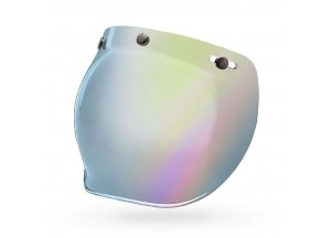 7018133 - Visor Bell Custom 500 3-Snap Bubble Silver Iridium