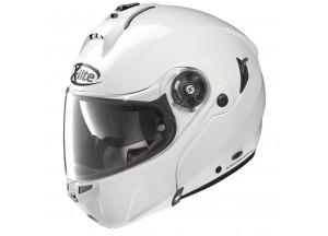 Helmet Flip-Up Full-Face X-Lite X-1004 Elegance N-Com 3 Metal White