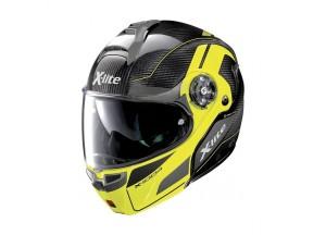 Helmet Flip-Up Full-Face X-Lite X-1004 Ultra Carbon 14 Led Yellow