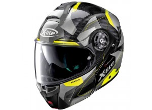 Helmet Flip-Up Full-Face X-Lite X-1004 Ultra Carbon Dedalon 18 Black Yellow