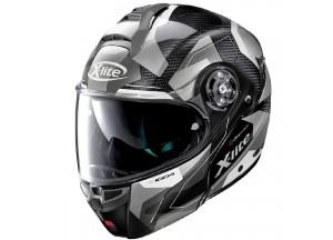 Helmet Flip-Up Full-Face X-Lite X-1004 Ultra Carbon Dedalon 16 Black White