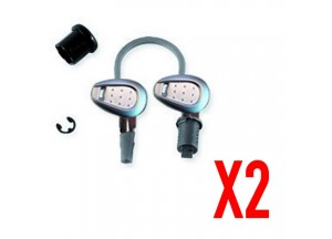 Z227A - Givi Set for 2 key locks with corresponding bush with silver handle 2,5m