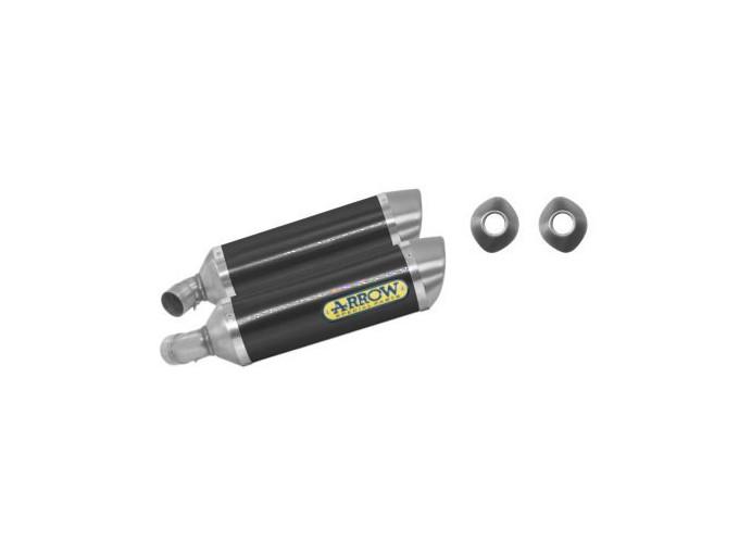 71131MO - SILENCIEUX ECHAPPEMENT ARROW CARBONE/INOX DUCATI MONSTER 696/796/1100