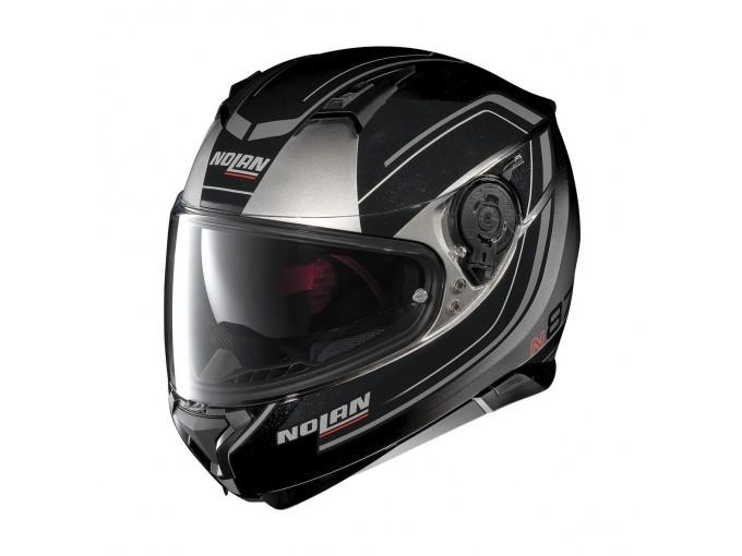 Nolan N87 Fade, casque intégral Argent/Noir M