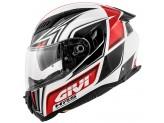 Casque Intégral Givi 40.5 X-Fiber GP Blanc Rouge Noir