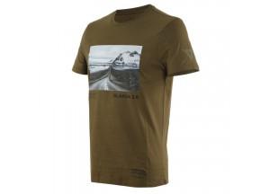 T-Shirt Adventure Dream Dainese Military-Olive/Noir