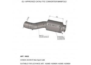 16022 - Raccord Echappement LeoVince catalysé