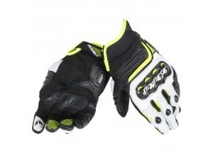 Gants Moto Dainese Carbon D1 Noir/Blanc/Jaune-Fluo