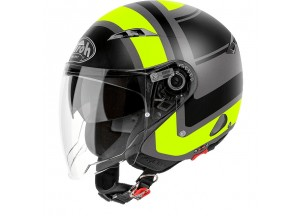 Casque Jet Airoh City One Wrap Jaune Mat