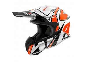 Casque Intégral Off-Road Airoh Terminator Open Vision Shock Orange Brillant