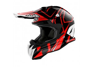 Casque Intégral Off-Road Airoh Terminator Open Vision Shock Rouge Brillant