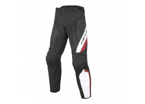 Pantalons Dainese Drake Air D-Dry imperméable Noir/Blanc/Rouge
