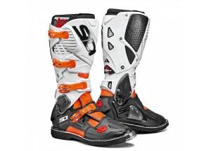 Bottes Moto Off-Road Crossfire 3 Orange Fluo Noir Blanc