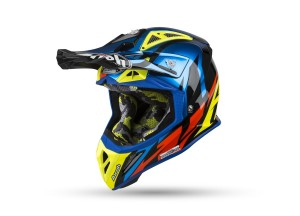 Casque Intégral Off-Road Airoh Aviator 2.3 AMS Great Bleu Chrome