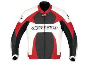 Veste de cuir Alpinestars GP Plus Blanc/Rouge/Noir