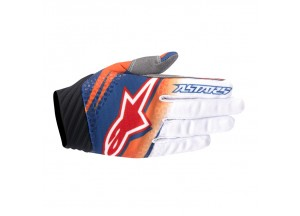 Gants Alpinestars TECHSTAR VENOM Orange/Blanc/Bleu