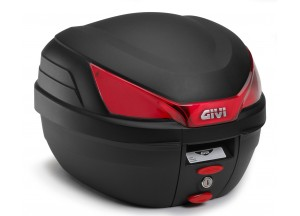 B27NMAL - Top Case Givi Monolock Noir platine kit de fixation 27lt