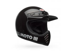 Casque Bell Off-road Motocross Moto-3 Classic Noir Brilliant