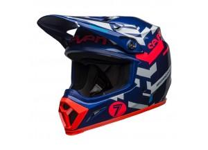 Casque Bell Off-road Motocross Mx-9 Mips Seven Equalizer Brilliant Bleu
