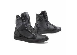 Chaussures Moto Forma Urbaine En Cuir Imperméable Hyper Noir Noir
