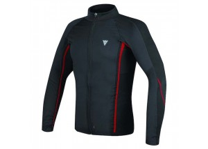 Tricoté Moto Dainese D-Core No-wind Thermo Tee Ls Noir/Rouge