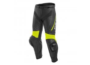 Pantalon Moto Homme Cuir Dainese DELTA 3 Noir/Jaune-Fluo