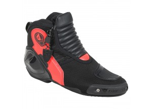 Chaussures de Moto Homme Dainese DYNO D1 Noir/Rouge-Fluo