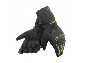 Gants de Moto Dainese TEMPEST UNISEX D-DRY LONG Noir/Jaune-Fluo