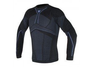 Chemise technique Moto Homme Dainese D-CORE AERO TEE LL Noir/Bleu-Cobalt