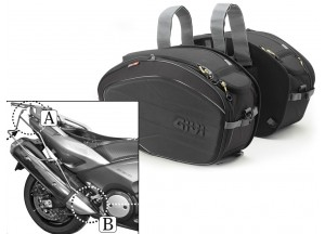 Sacoches Laterals Givi EA100B + Supports pour Yamaha T-MAX 500/530