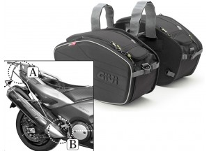 Sacoches Laterals Givi EA101B + Supports pour Yamaha T-MAX 500/530