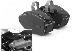 Sacoches Laterals Givi EA101B + Supports pour Honda CBF 500/600/1000