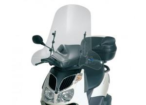 105A - Givi Pare-brise incolore 66x67cm Aprilia Sportcity 125-200-250 (04 > 08)