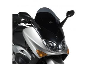 D128B - Givi Bulle basse sportive noire 52x44,5 cm Yamaha T-MAX 500 (01 > 07)