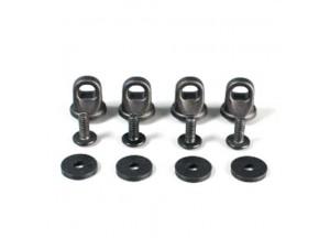 E125 - Givi Kit de quatre anneaux pour la fixation du filet élastique  T10N TRK33 / TRK46 / TRK52