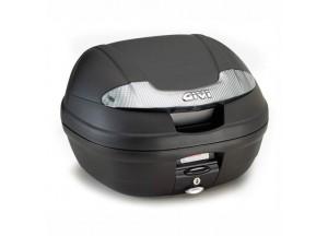 E340NT - Givi Top Case Monolock E340 VISION TECH 40lt Noir/Réflecteurs Fumés