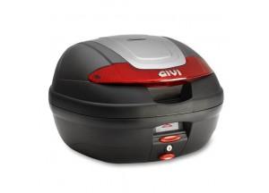 E340N - Givi Top Case Monolock E340 VISION 40lt Noir/Réflecteurs Rouges