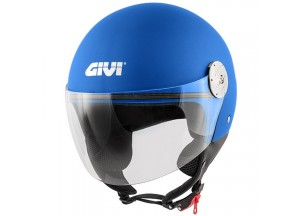 Casque Jet Givi 10.7 Mini-J Solid Colour Metalic Bleu Mat