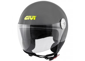 Casque Jet Givi 10.7 Mini-J Solid Colour Gris Brillant