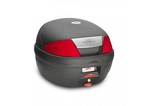 K26N - Kappa Valise MONOLOCK 26 litres noir gaufré avec catadioptres rouges