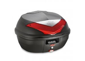 K355N - Kappa Valise MONOLOCK 35 litres noir avec catadioptres rouges