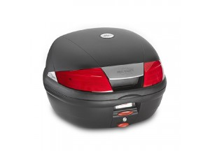 K35N - Kappa Valise MONOLOCK 35 litres noir gaufré avec catadioptres rouges