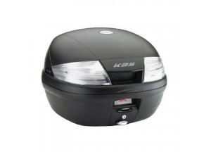 K35NT - Kappa Valise MONOLOCK 35 litres noir gaufré avec catadioptre transparent