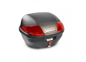 K400N - Kappa Valise MONOLOCK 40 litres noir avec catadioptres rouges